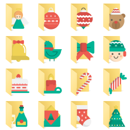 Christmas icon library