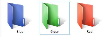 Make the folder icon speak