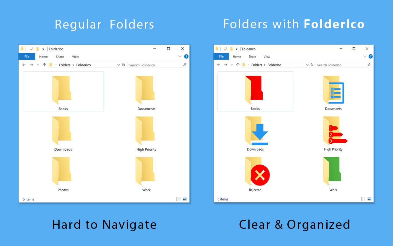 Organise your folders more easily